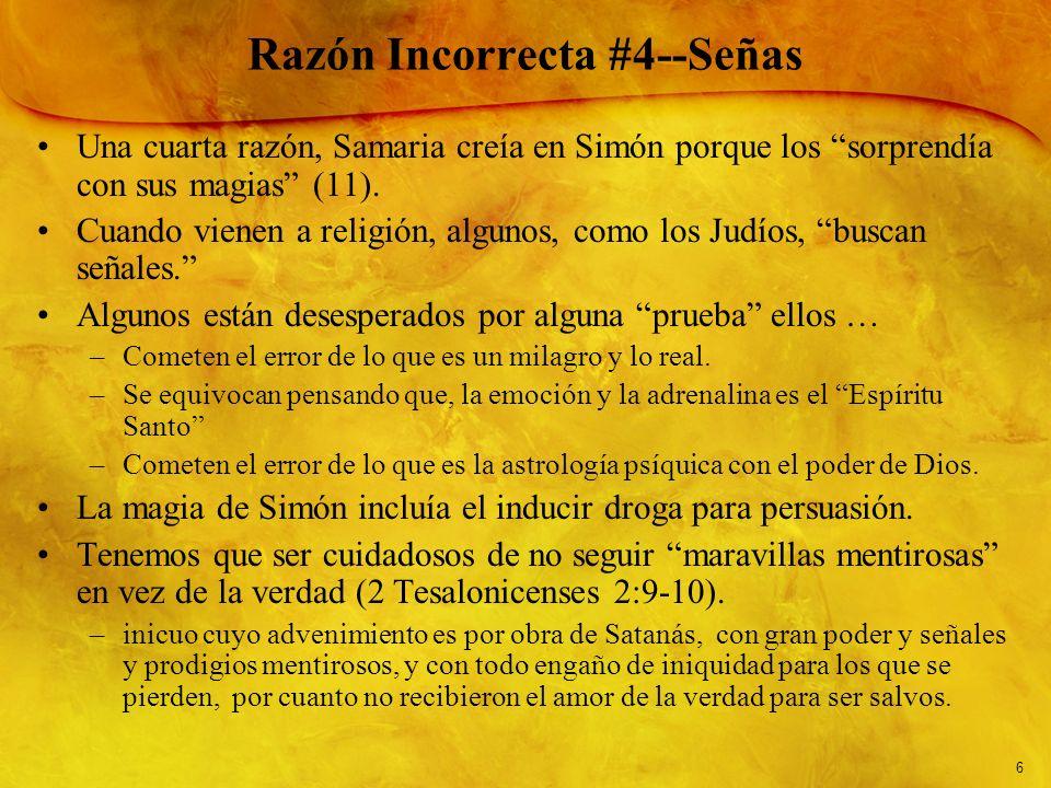 Razón Incorrecta #4--Señas