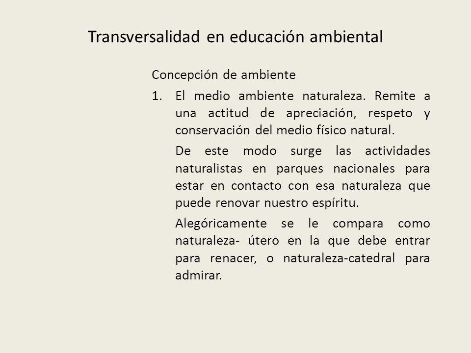 Transversalidad en educación ambiental
