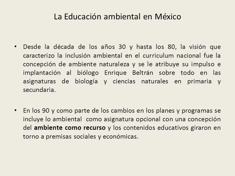 La Educación ambiental en México