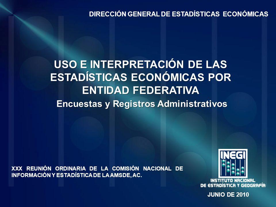 DIRECCIÓN GENERAL DE ESTADÍSTICAS ECONÓMICAS
