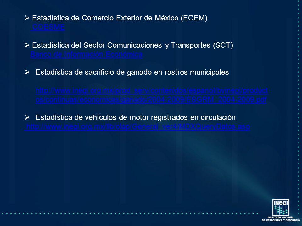 Estadística de Comercio Exterior de México (ECEM)