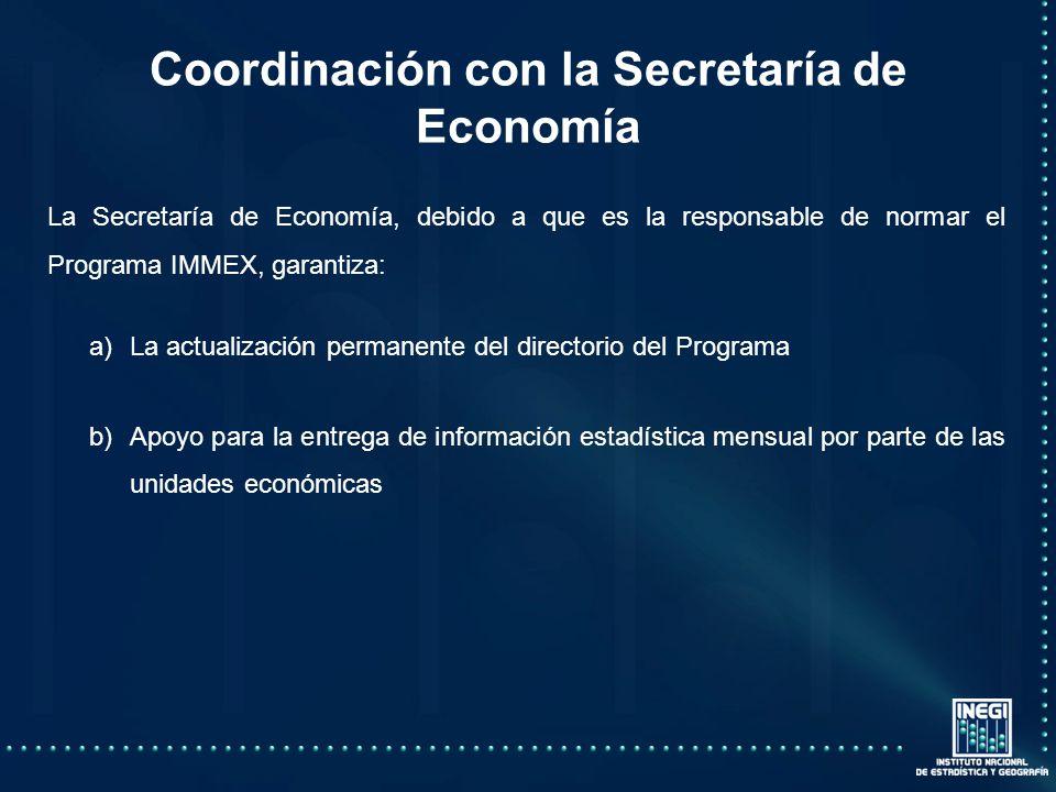 Coordinación con la Secretaría de