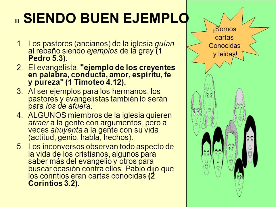 III SIENDO BUEN EJEMPLO