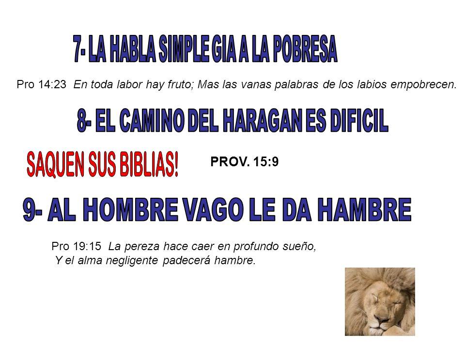 SAQUEN SUS BIBLIAS! 7- LA HABLA SIMPLE GIA A LA POBRESA