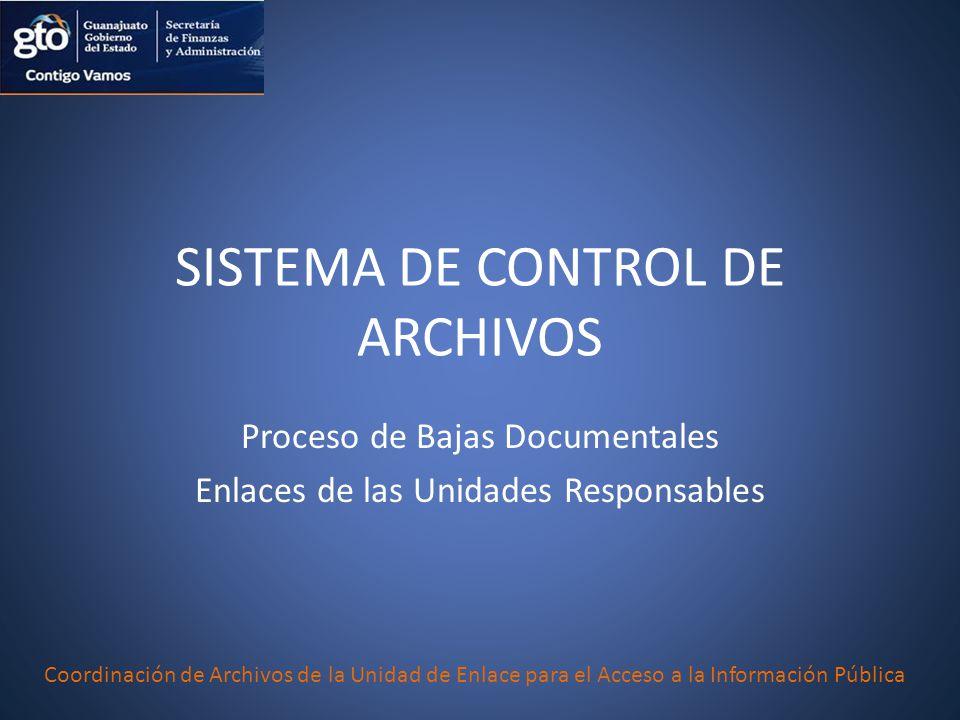 SISTEMA DE CONTROL DE ARCHIVOS