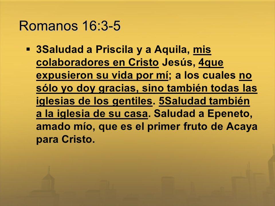 Romanos 16:3-5