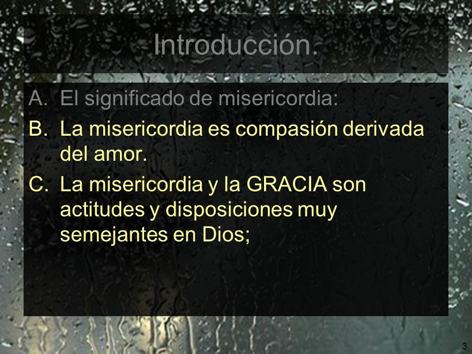 Introducción. El significado de misericordia: