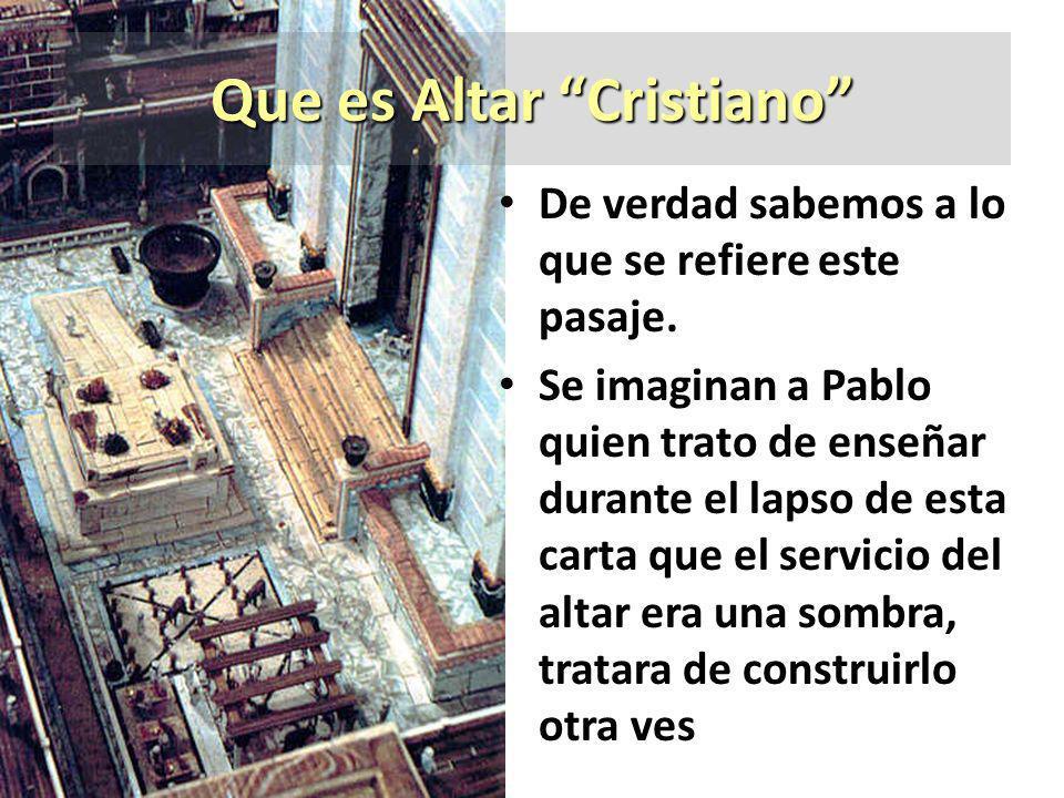 Que es Altar Cristiano