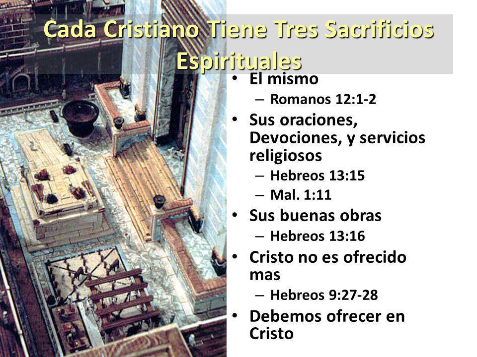 Cada Cristiano Tiene Tres Sacrificios Espirituales