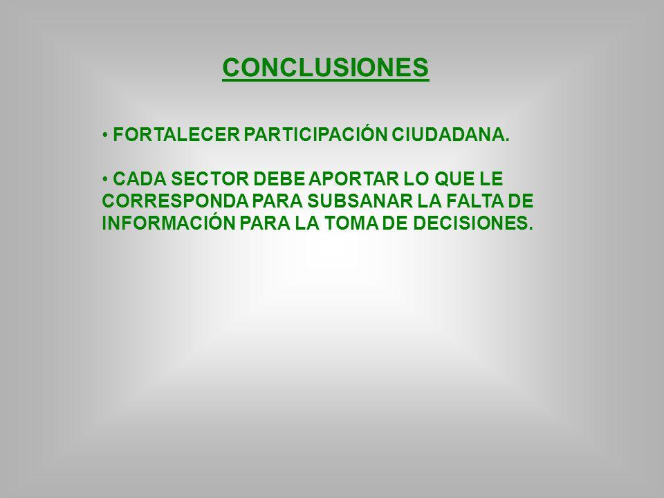 CONCLUSIONES FORTALECER PARTICIPACIÓN CIUDADANA.