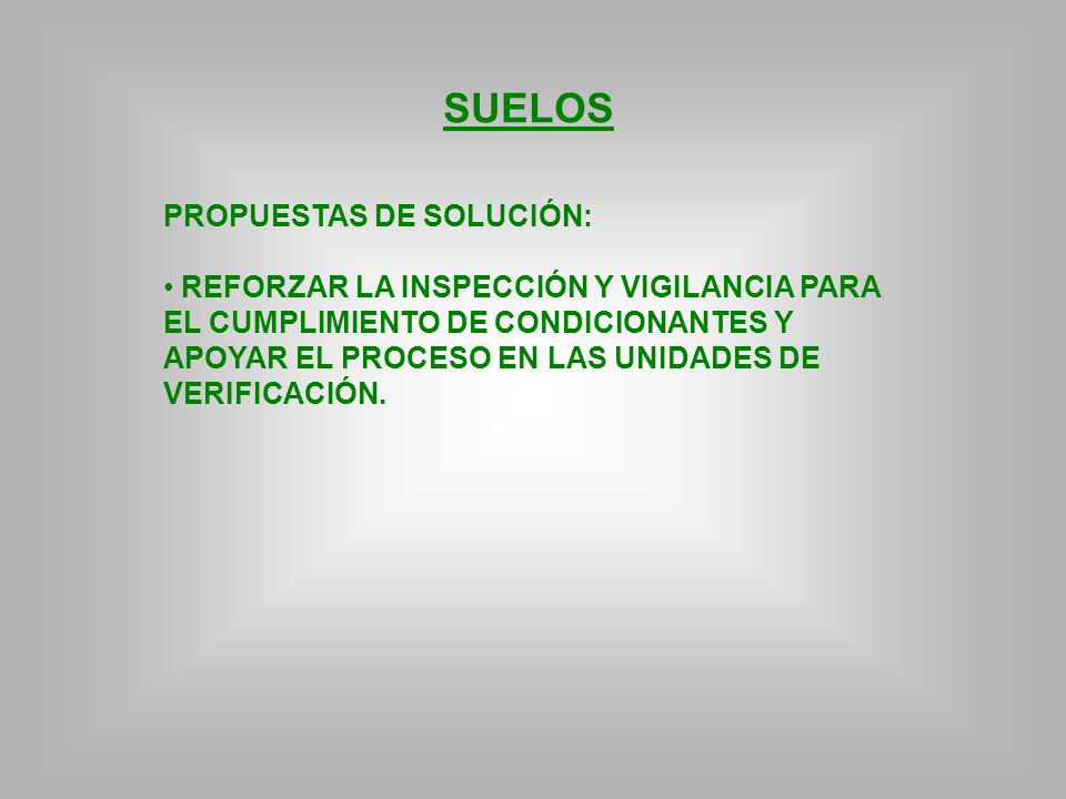 SUELOS PROPUESTAS DE SOLUCIÓN: