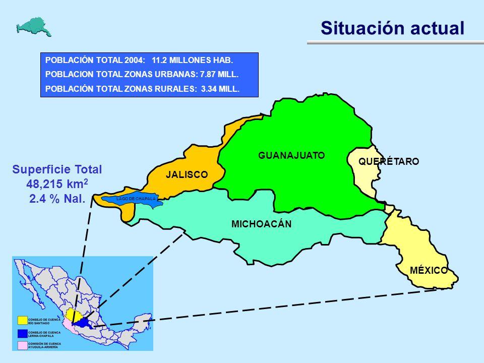Situación actual Superficie Total 48,215 km2 2.4 % Nal. GUANAJUATO