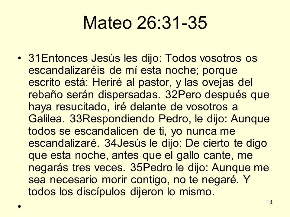 Mateo 26:31-35