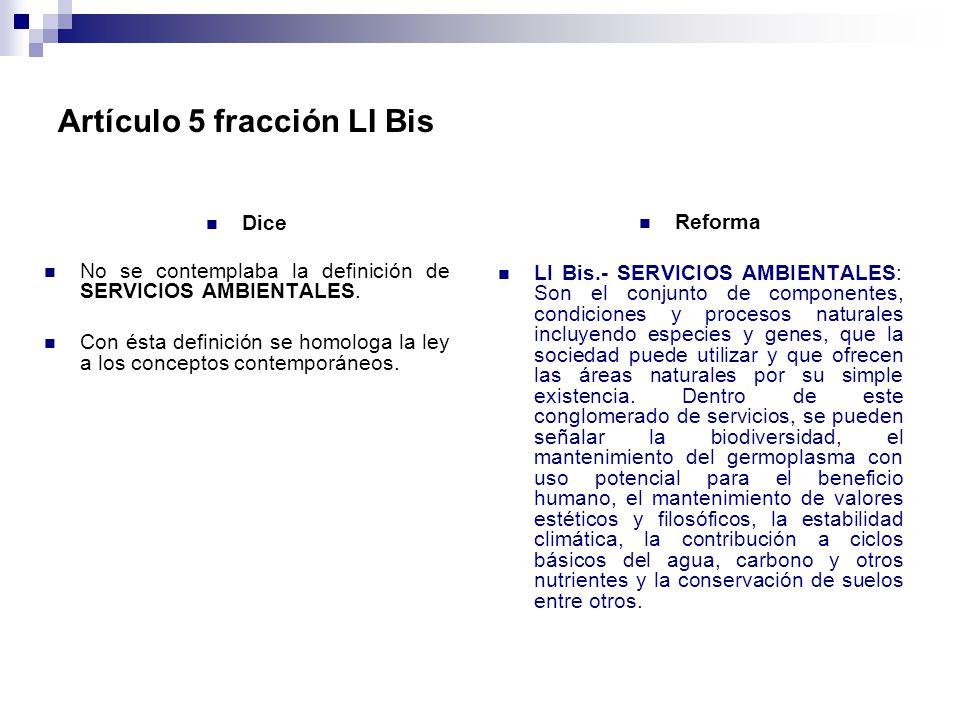 Artículo 5 fracción LI Bis