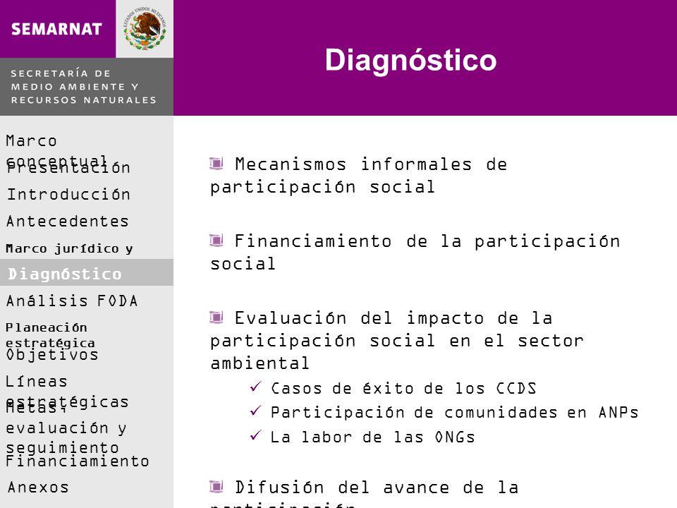 Diagnóstico Mecanismos informales de participación social