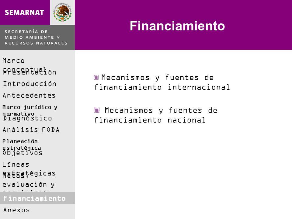 Financiamiento Mecanismos y fuentes de financiamiento nacional