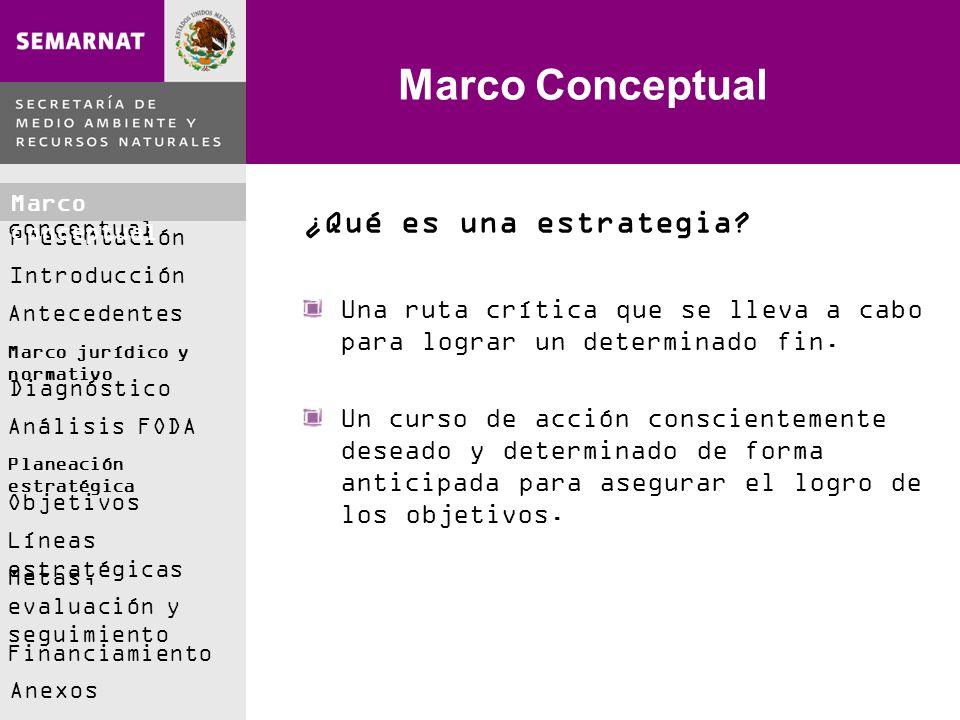 Marco Conceptual ¿Qué es una estrategia
