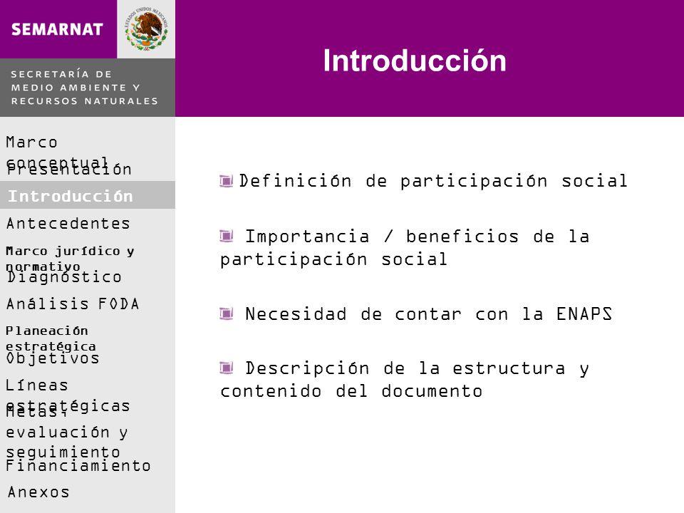 Introducción Definición de participación social