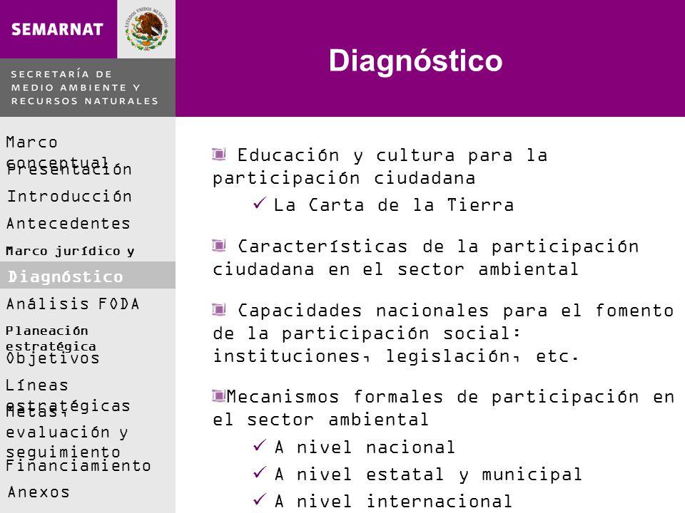 Diagnóstico Educación y cultura para la participación ciudadana