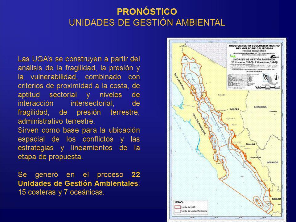PRONÓSTICO UNIDADES DE GESTIÓN AMBIENTAL