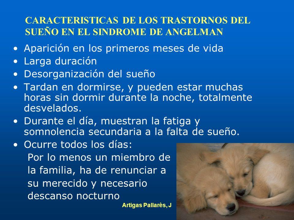 CARACTERISTICAS DE LOS TRASTORNOS DEL SUEÑO EN EL SINDROME DE ANGELMAN