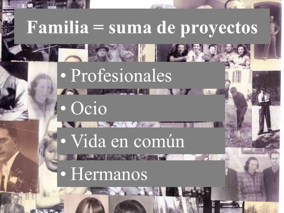 Familia = suma de proyectos