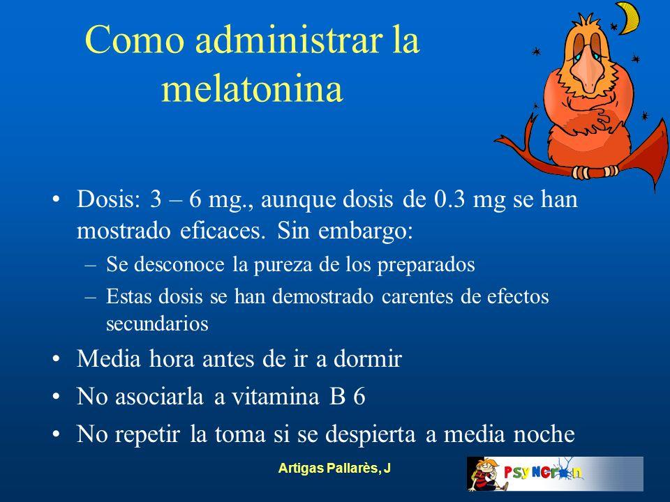 Como administrar la melatonina