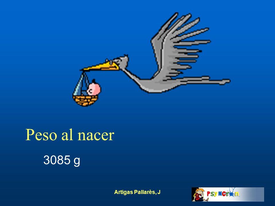 Peso al nacer 3085 g Artigas Pallarès, J