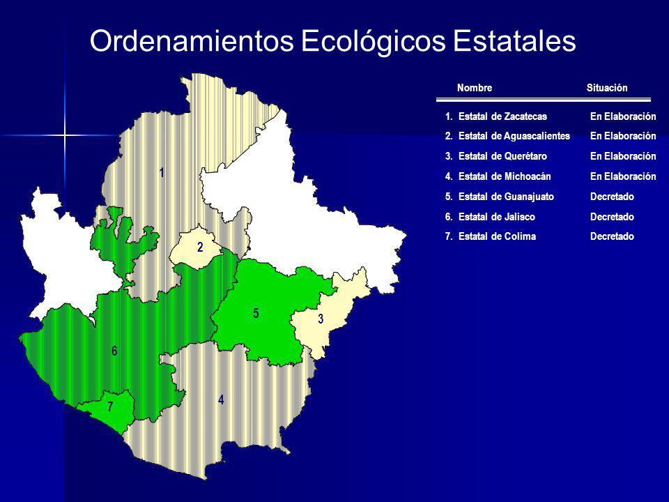 Ordenamientos Ecológicos Estatales
