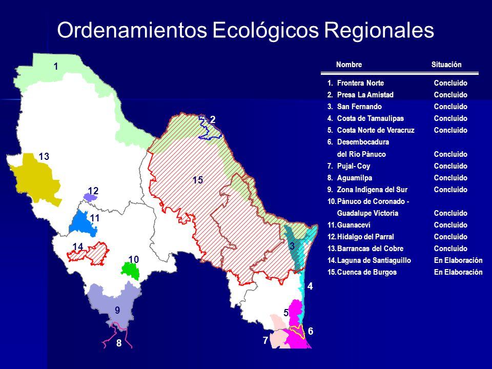 Ordenamientos Ecológicos Regionales