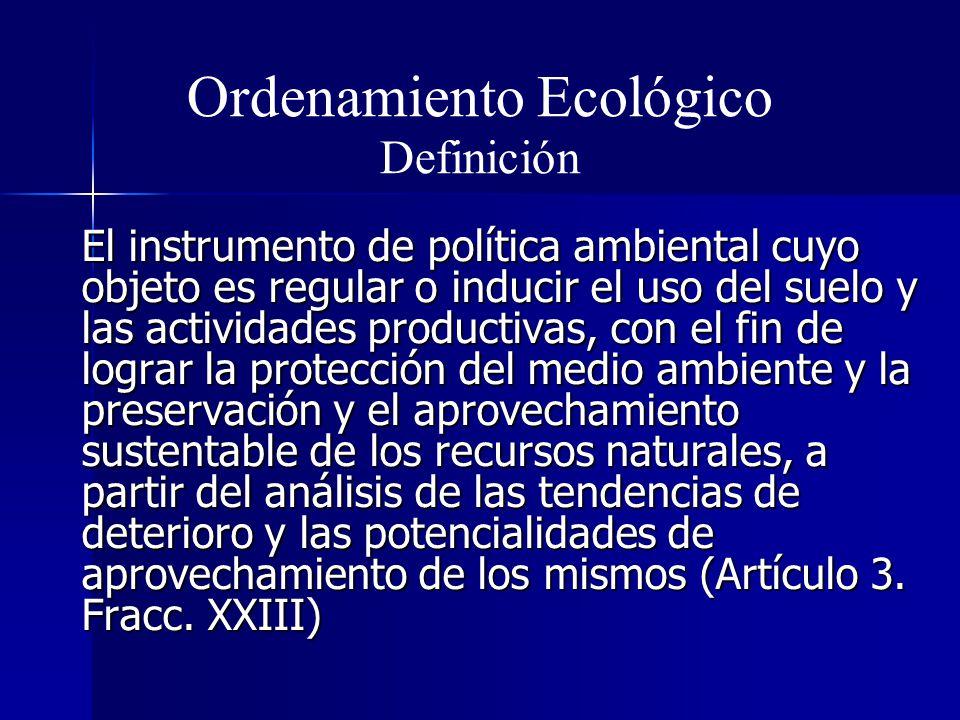 Ordenamiento Ecológico Definición