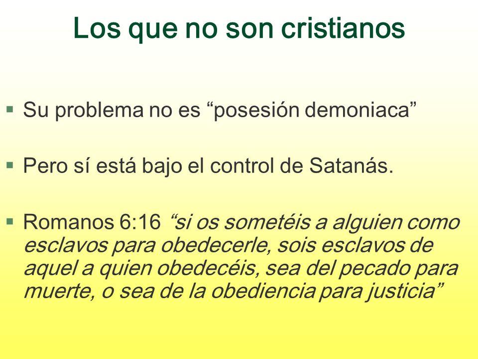 Los que no son cristianos
