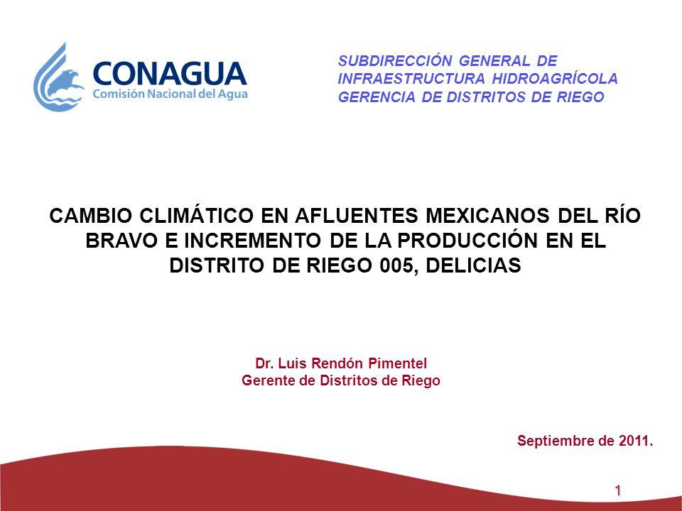 Dr. Luis Rendón Pimentel Gerente de Distritos de Riego