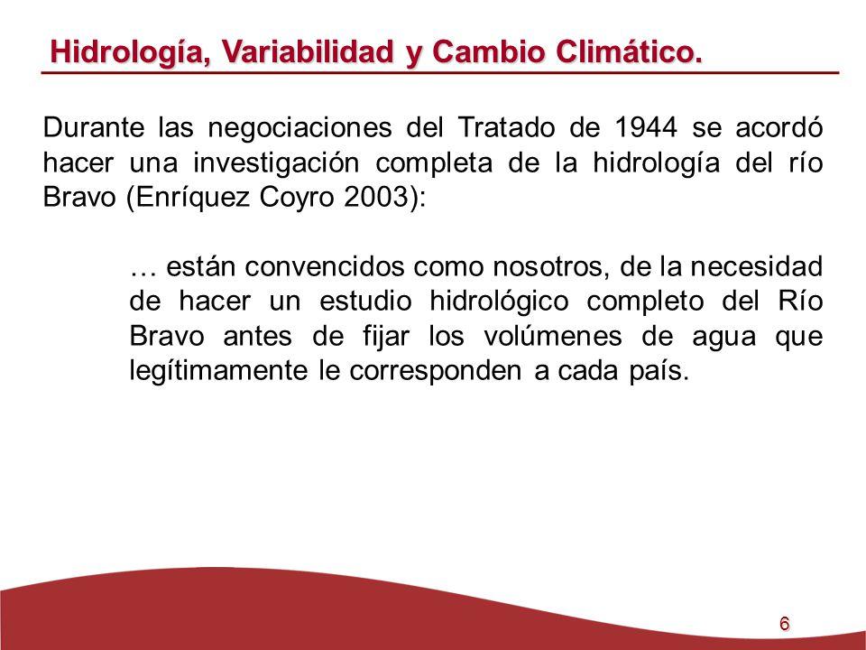Hidrología, Variabilidad y Cambio Climático.