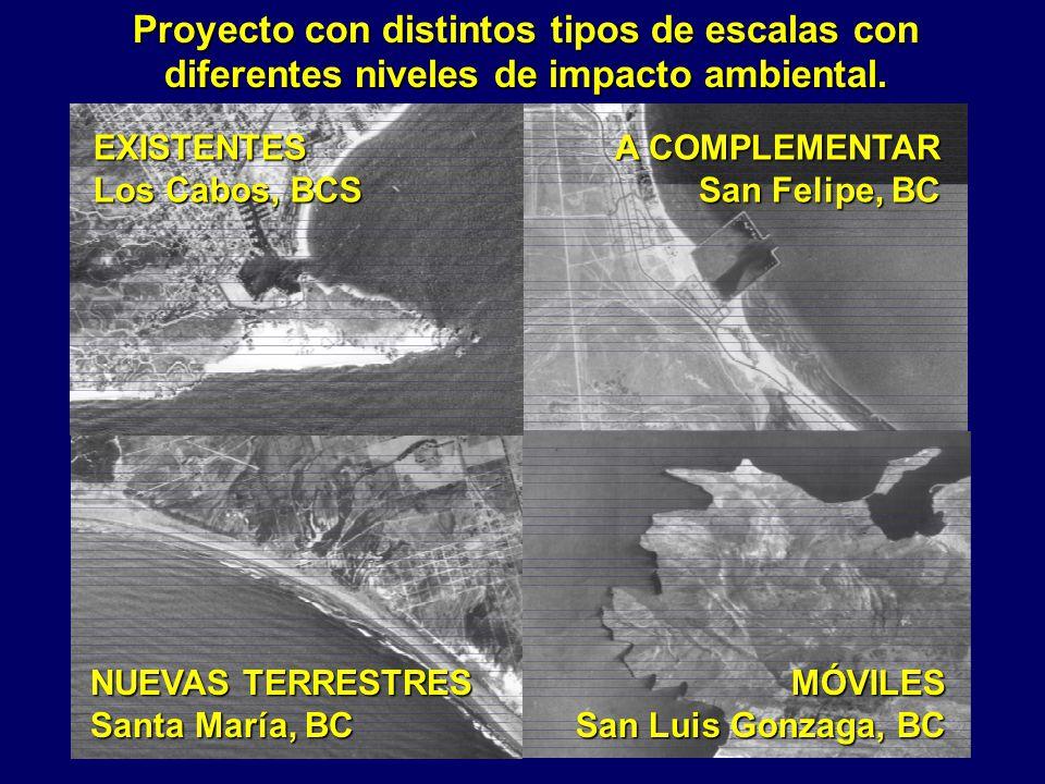 Proyecto con distintos tipos de escalas con diferentes niveles de impacto ambiental.