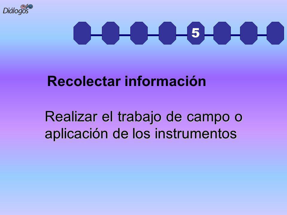 Recolectar información
