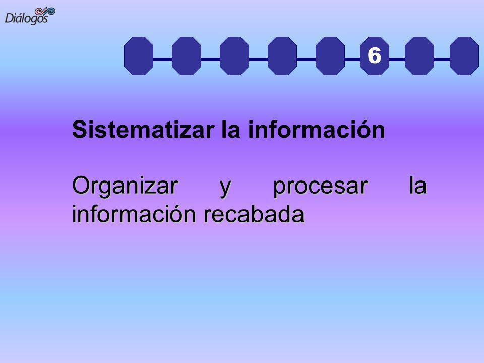 Sistematizar la información