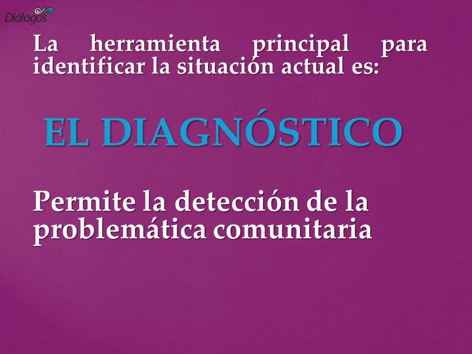 EL DIAGNÓSTICO Permite la detección de la problemática comunitaria