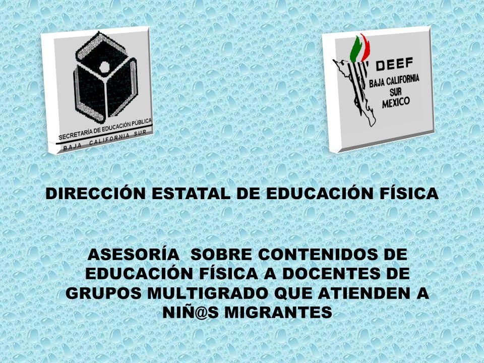 DIRECCIÓN ESTATAL DE EDUCACIÓN FÍSICA