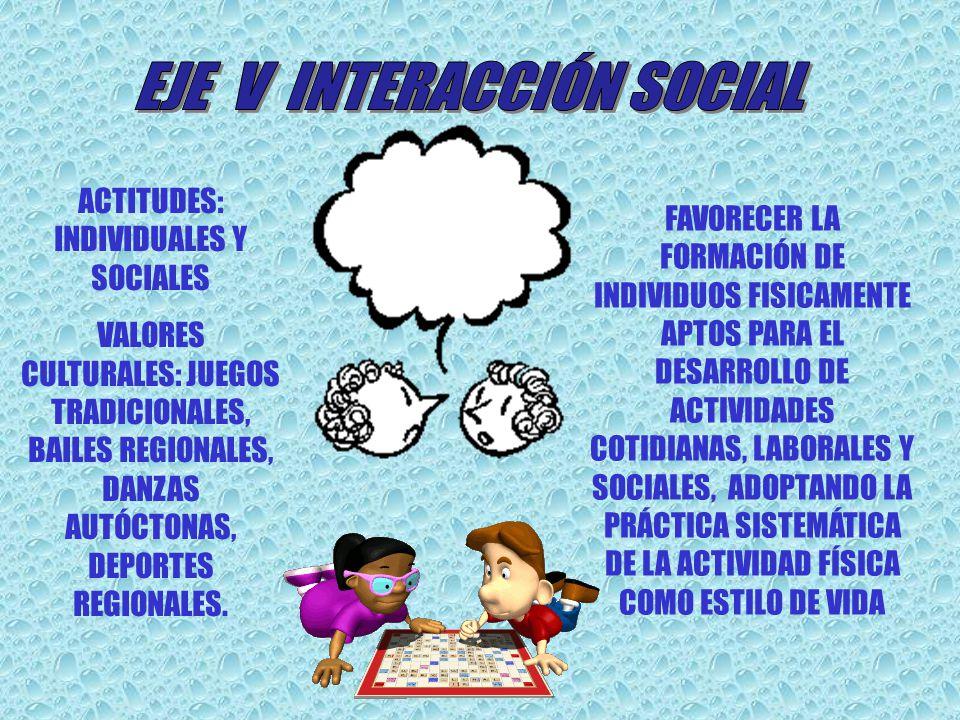 EJE V INTERACCIÓN SOCIAL