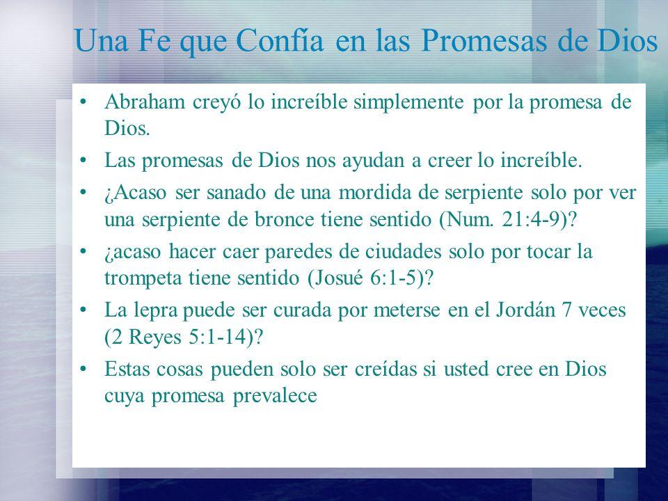 Una Fe que Confía en las Promesas de Dios