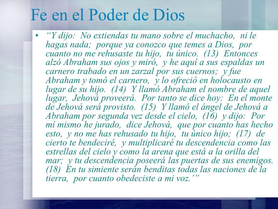 Fe en el Poder de Dios
