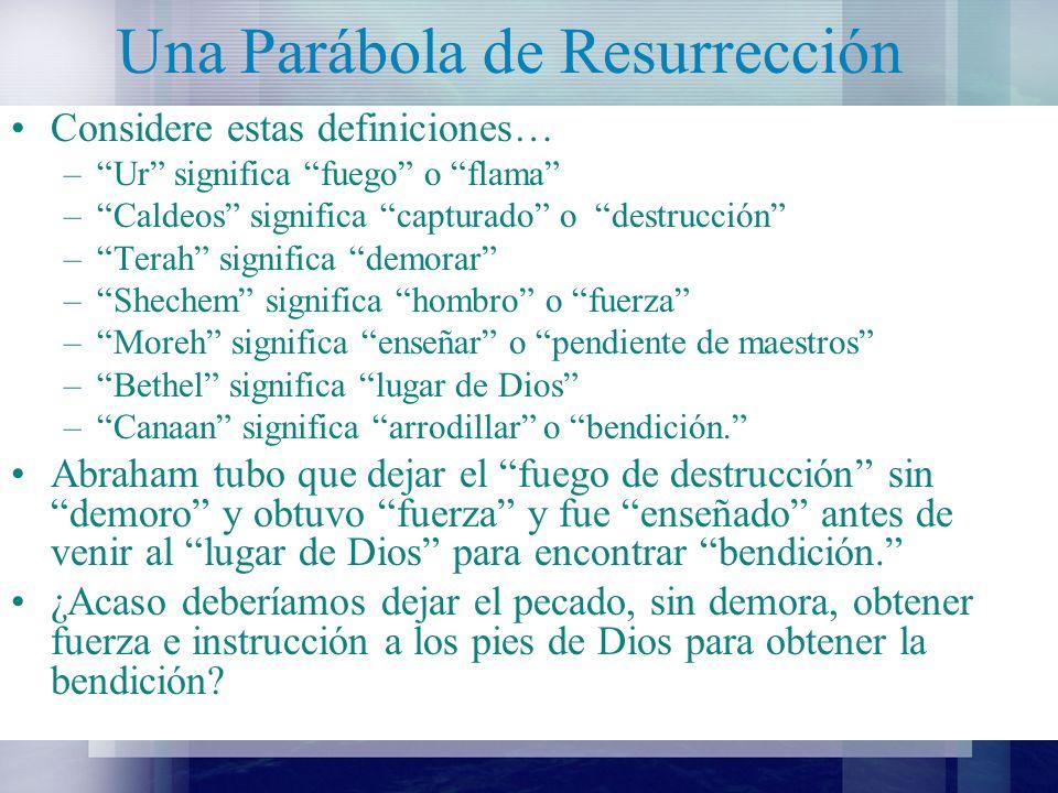 Una Parábola de Resurrección