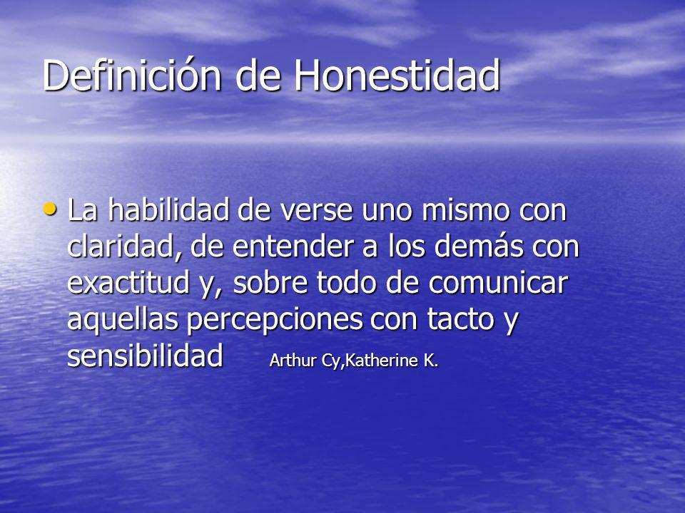 Definición de Honestidad