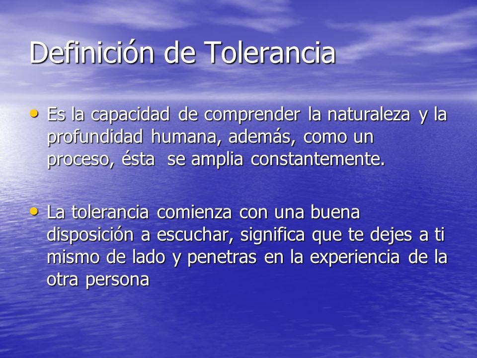Definición de Tolerancia