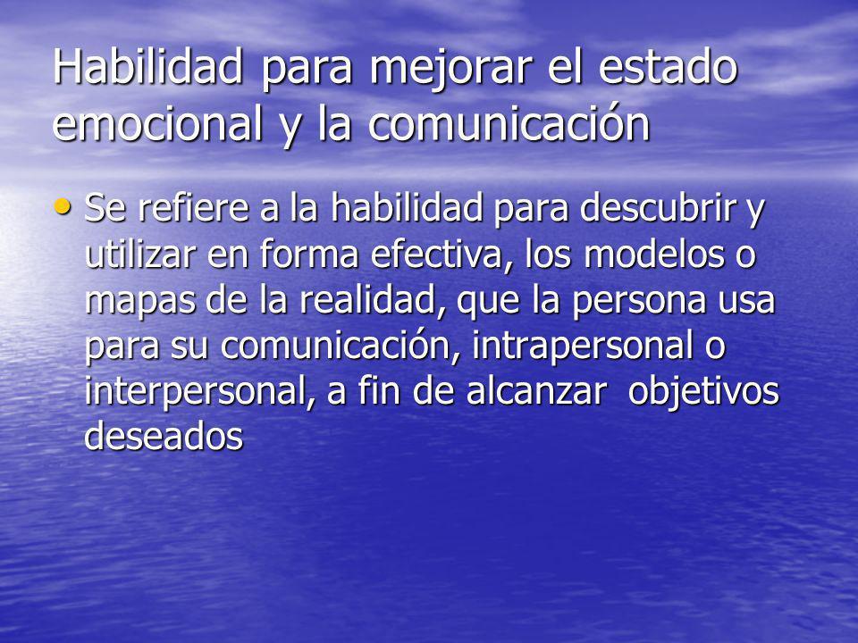 Habilidad para mejorar el estado emocional y la comunicación
