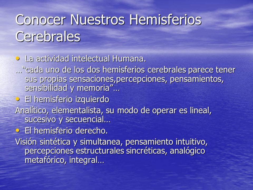 Conocer Nuestros Hemisferios Cerebrales
