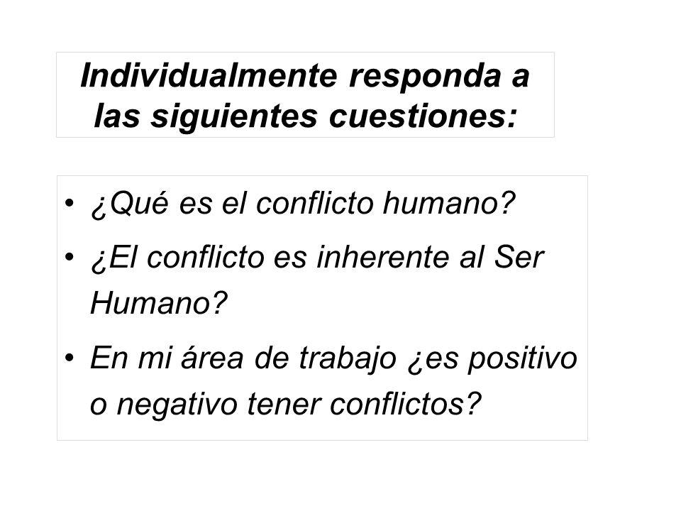 Individualmente responda a las siguientes cuestiones: