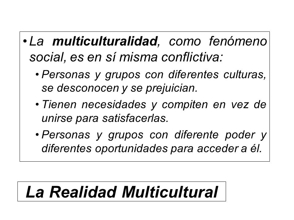 La Realidad Multicultural