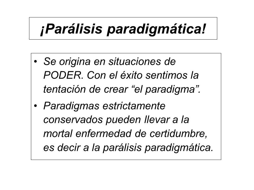 ¡Parálisis paradigmática!